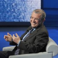 """Foto Nicoloro G. 10/12/2011 Milano Trasmissione televisiva su Rai3 """" Che tempo che fa """" condotta da Fabio Fazio. nella foto Massimo Mucchetti"""