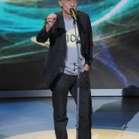 """Foto Nicoloro G. 10/12/2011 Milano Trasmissione televisiva su Rai3 """" Che tempo che fa """" condotta da Fabio Fazio. nella foto Roberto Vecchioni"""
