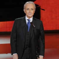 """Foto Nicoloro G. 17/12/2011 Milano Trasmissione televisiva su Rai3 """" Che tempo che fa """" condotta da Fabio Fazio. nella foto José Carreras"""