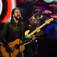 """Foto Nicoloro G.  01/02/2014  Milano    Trasmissione televisiva su Rai3 """" Che tempo che fa """". nella foto il musicista Omar Pedrini."""