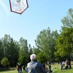 Foto Nicoloro G.   25/04/2021   Ravenna  In occasione del 25 Aprile, Festa della Liberazione, l' Anpi di Ravenna, ha voluto ricordare lo studente Patrick Zakj, detenuto da piu' di un anno nelle carceri egiziane, con il ' Volo dell' aquilone di Zakj '. nella foto l' aquilone di Zakj.