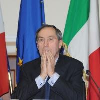 Foto Nicoloro G. 08/04/2011 Milano Vertice in Prefettura tra i ministri degli esteri d' Italia e di Francia sul problema dell' immigrazione. nella foto Claude Gueant, Ministro degli Esteri francese