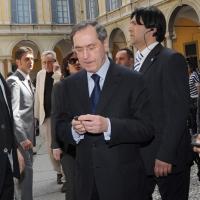 Foto Nicoloro G. 08/04/2011 Milano Vertice in Prefettura tra i ministri degli esteri d' Italia e di Francia sul problema dell' immigrazione. nella foto Claude Gueant
