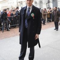 Foto Nicoloro G. 20/03/2011 Milano Visita del Capo dello Stato a Milano per partecipare alla celebrazione di Carlo Cattaneo e visitare il Museo del Palazzo reale. nella foto Massimiliano Finazzer Flory