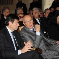 Foto Nicoloro G. 20/03/2011 Milano Visita del Capo dello Stato a Milano per partecipare alla celebrazione di Carlo Cattaneo e visitare il Museo del Palazzo reale. nella foto