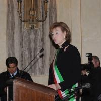 Foto Nicoloro G. 20/03/2011 Milano Visita del Capo dello Stato a Milano per partecipare alla celebrazione di Carlo Cattaneo e visitare il Museo del Palazzo reale. nella foto Letizia Moratti