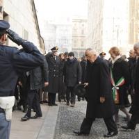 Foto Nicoloro G. 01/02/2011 Milano Visita del presidente Giorgio Napolitano al Museo del '900. nella foto Giorgio Napolitano – Letizia Moratti – Roberto Formigoni – Guido Podestà