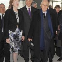 Foto Nicoloro G. 01/02/2011 Milano Visita del presidente Giorgio Napolitano al Museo del '900. nella foto Letizia Moratti – Roberto Formigoni – Giorgio Napolitano