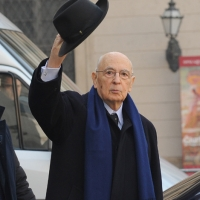 Foto Nicoloro G. 01/02/2011 Milano Visita del presidente Giorgio Napolitano al Museo del '900. nella foto Giorgio Napolitano