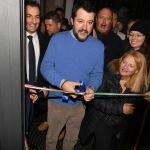Foto Nicoloro G.   05/12/2019   Ravenna   Inaugurazione della nuova sede provinciale della Lega. nella foto Matteo Salvini taglia il nastro inaugurale.