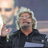 """Foto Nicoloro/Omega  26/09/2010 Cesena Seconda giornata del """" Woodstock 5 Stelle - Musica & Futuro """" organizzato dal """" Movimento 5 Stelle """" di Beppe Grillo all' interno del parco dell' Ippodromo di Cesena. nella foto Beppe Grillo"""