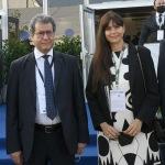 Foto Nicoloro G.   28/09/2021   Ravenna    XV edizione di OMC - Med Energy Conference che quest' anno pone al centro del dibattito la ' transizione ecologica '. nella foto il ministro del petrolio dell' Egitto Tarek El Molla e Monica Spada presidente di OMC 2021.
