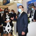 Foto Nicoloro G.   28/09/2021   Ravenna    XV edizione di OMC - Med Energy Conference che quest' anno pone al centro del dibattito la ' transizione ecologica '. nella foto la presidente di OMC 2021 Monica Spada e il ministro del petrolio della Libia Mohamed Oun.