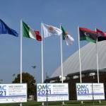 28/09/2021   Ravenna    XV edizione di OMC - Med Energy Conference che quest' anno pone al centro del dibattito la ' transizione ecologica '. nella foto le bandiere dei paesi espositori di questa XV edizione.