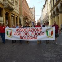 Foto Nicoloro G.  02/08/2014  Bologna    34esimo anniversario della strage alla stazione di Bologna. nella foto uno striscione lungo il corteo.