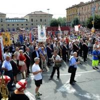 Foto Nicoloro G.  02/08/2014  Bologna    34esimo anniversario della strage alla stazione di Bologna. nella foto una veduta della piazza della stazione durante la celebrazione.