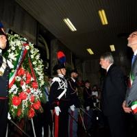 Foto Nicoloro G.  02/08/2014  Bologna    34esimo anniversario della strage alla stazione di Bologna. nella foto il ministro Giuliano Poletti e il sindaco di Bologna Valerio Merola.