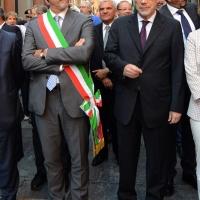 Foto Nicoloro G.  02/08/2015   Bologna   Trentacinquesimo anniversario della strage alla stazione di Bologna. nella foto il sindaco di Bologna Virginio Merola, a sinistra, e il sottosegretario Claudio De Vincenti.