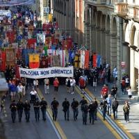 Foto Nicoloro G.  02/08/2015   Bologna   Trentacinquesimo anniversario della strage alla stazione di Bologna. nella foto il corteo.