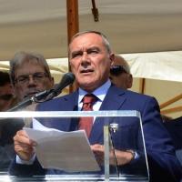 Foto Nicoloro G.  02/08/2015   Bologna   Trentacinquesimo anniversario della strage alla stazione di Bologna. nella foto il presidente del Senato Pietro Grasso.