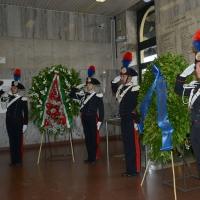 Foto Nicoloro G.  02/08/2015   Bologna   Trentacinquesimo anniversario della strage alla stazione di Bologna. nella foto carabinieri in alta uniforme.