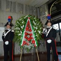 Foto Nicoloro G.  02/08/2015   Bologna   Trentacinquesimo anniversario della strage alla stazione di Bologna. nella foto la corona del presidente della Repubblica.